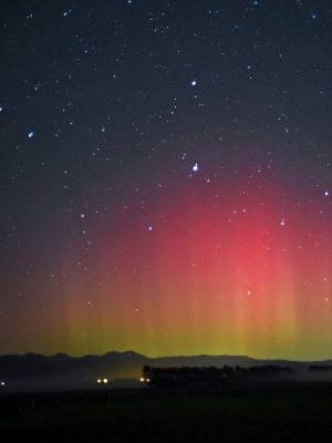 The aurora australis as seen from Opiki.