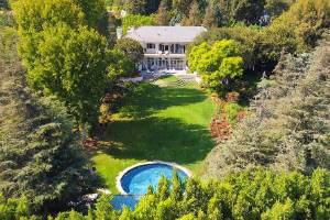 The house is situated just above Sunset Boulevard, on a section of Delfern Drive known as Billionaires Row.