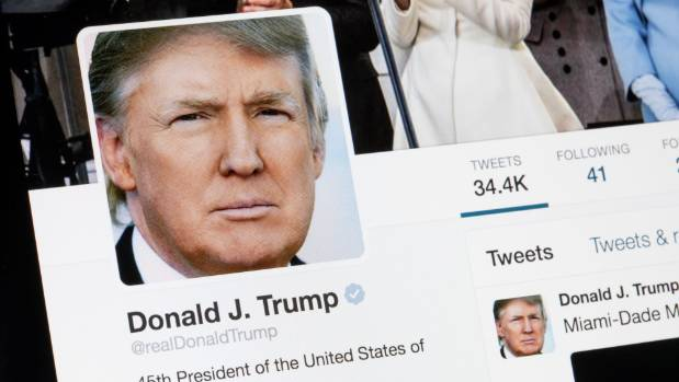 US President Donald Trump regularly uses Twitter to get political messages across.