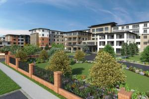 An artist's impression of Ryman Healthcare's latest $360m retirement village in Melbourne where work is now under way.