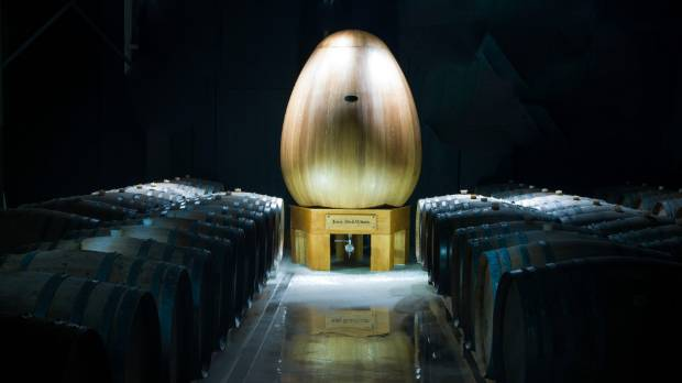 Winemaker Tony Bish imported an oak egg from France which will be used to make chardonnay.