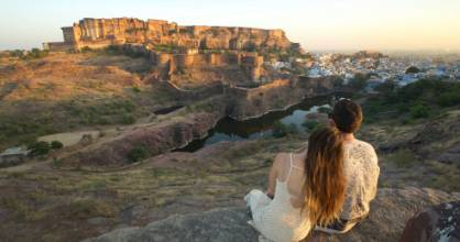 The walls surrounding Mehrangarh Fort provided the perfect perch to overlook the old blue city of Jodhpur and watch the ...