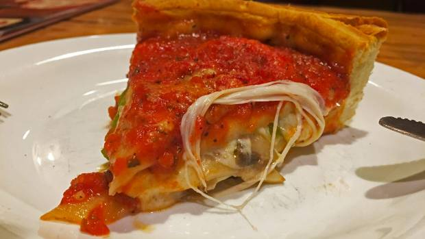 You can't leave Chicago without trying deep dish pizza. Giordano's has been called the best pizza joint in town.