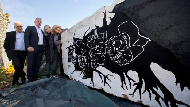 Two segments of the Berlin Wall will soon make up the already diverse selection of art in Christchurch.