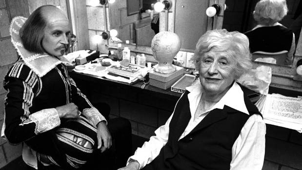 Dame Ngaio Marsh in the dressing room of the Downstage Theatre in Wellington in March 1976. She was a driving force in ...