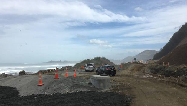 A 990-metre stretch of rail and road corridor past the Mangamaunu road block will be realigned 18 metres out to sea to ...