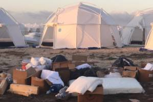 Inside the ill-fated Fyre Festival, more like a disaster zone than the luxe event revelers were promised.