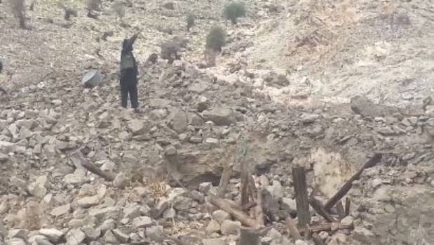 Afghan police video of the aftermath of the bomb.