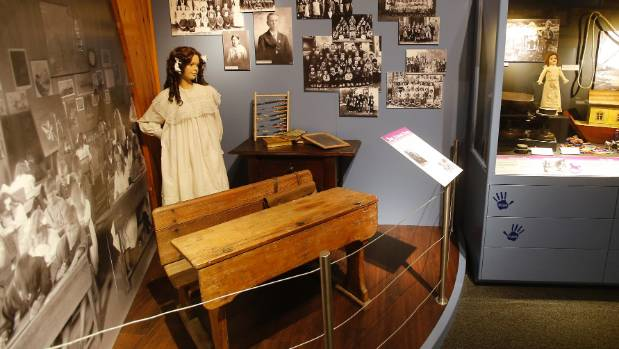 One of the new displays showing an old school desk.