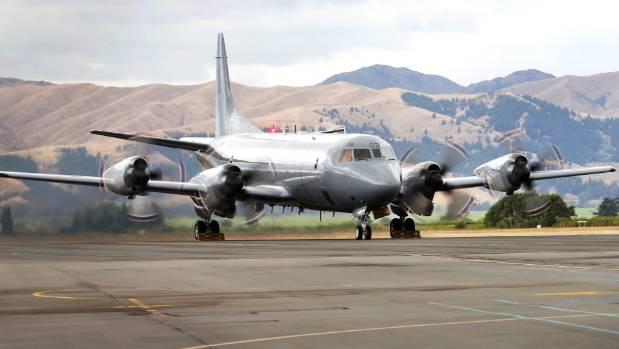 A RNZAF P-3K2 Orion aircraft at RNZAF Base Woodbourne.