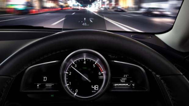 The Limited version of the Mazda2 now has the full-colour Active Driving Display as seen in the new Mazda3 and Mazda6.
