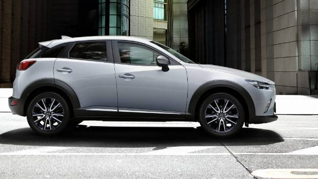The Mazda CX-3, which has just been facelifted.
