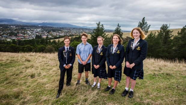 Marlborough Boys' and Girls' College students looking to the future, from left, Anaru Anderson, 17, Tane Anderson, 14 , ...