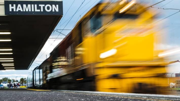 Train hits car which was stuck on tracks in Hamilton | Stuff