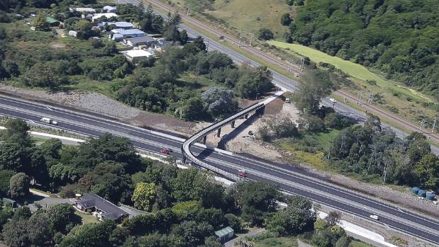 The old SH1 at the top of the picture, near Raumati. This stretch would become Hokowhitu Rd.