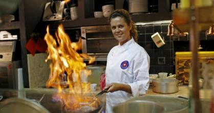 Chef Susana Felicidade cooks at Ribeira Market in  Lisbon. Lisbon's 19th-century riverside market has soared from ...