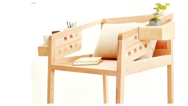 You may never lose the remote again... and you'll have a potted plant for company in the Changeable Chair, made by a ...