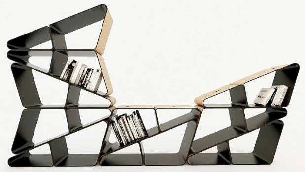 The 'Angle' is a modular bookshelf or partition. It won a Platinum, award in the 'Furniture, Decorative Items and ...