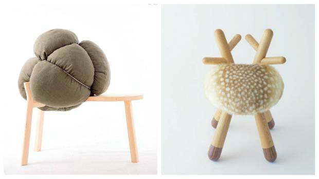 'Broccoli' and 'Bambi' offer two very different versions of a chair.