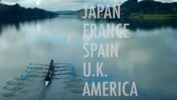 One of the 2014 National Party adverts showed a rowing team, with a voice speaking over the Eminem-style music.