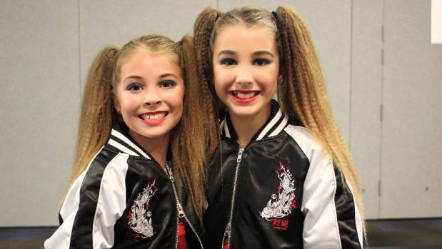 Sisters Shylah, 9, left, and Zariyah Andrews, 10, performed as part of Custom Teez and Last Level dance crew.