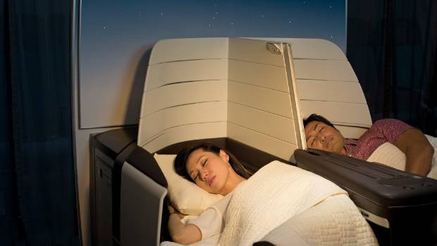 The 180-degree beds are 52 centimetres wide by 1.93m long.