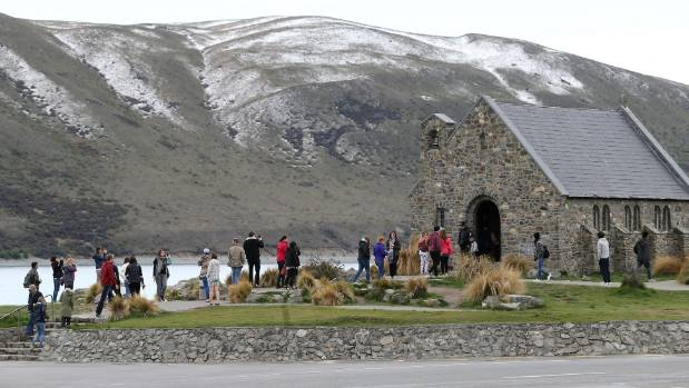 Church of the Good Shepherd at Lake Tekapo is popular with tourists.