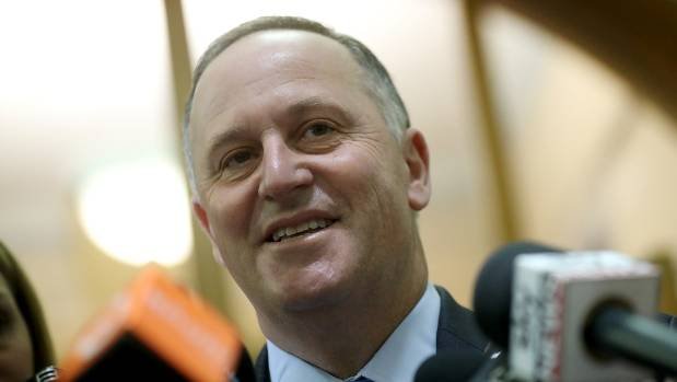 John - make that Sir John - Key after Bill English signed in as his replacement as prime minister