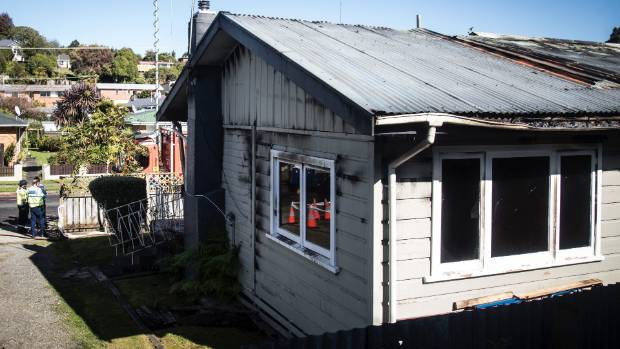 The scene of fatal house fire on Little Street in Tirau.