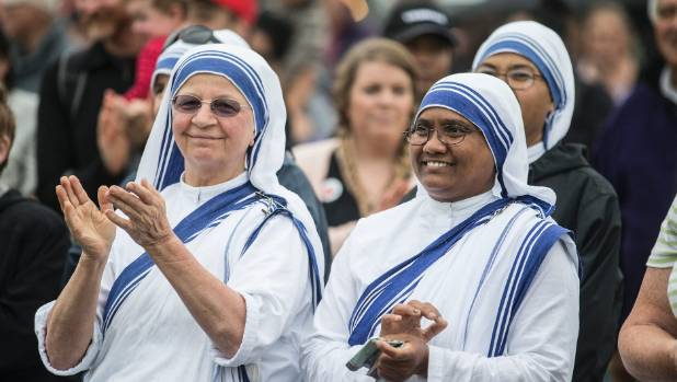 Missionaries of Charity from Waitangirua enjoyed the 2017 celebrations.