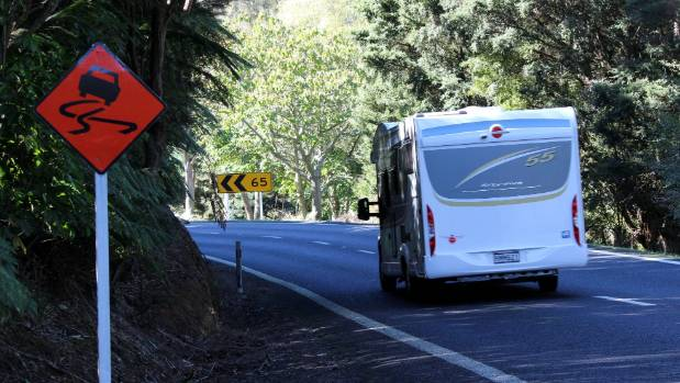 Police are urging motorists to read the signs and slow down for the many tight corners on the Kopu Hikuai Rd.