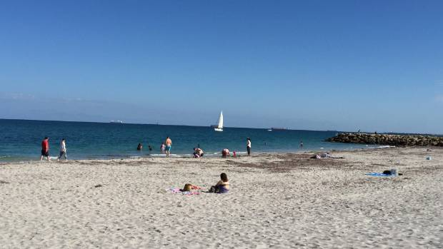 South Beach Fremantle is just one of the city's beaches that looks out to the Indian Ocean.