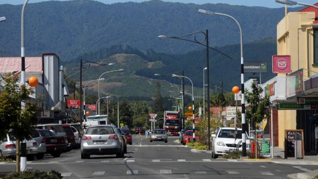 Main St in Otaki, a town in which about 50 per cent of the Maori population is bilingual.