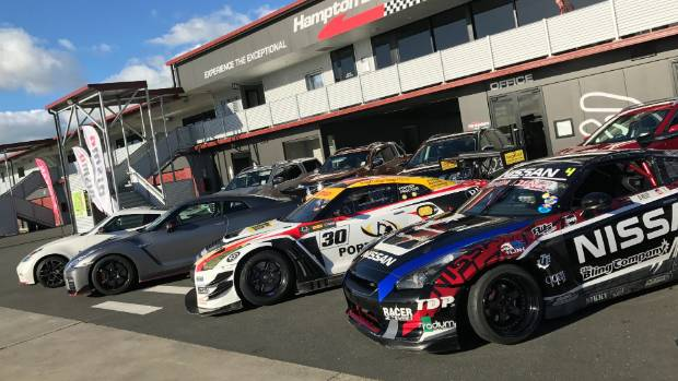 All in the Nismo family: from right to left, drift R35, GT3 racer and the roadgoing GT-R.