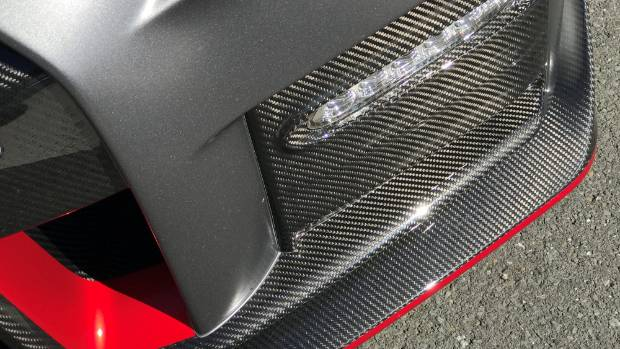 Nismo GT-R wears lots of carbon fibre. Lots.