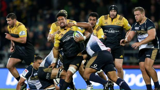 Ardie Savea in action for the Hurricanes during the round nine Super Rugby match between the Hurricanes and the Brumbies ...