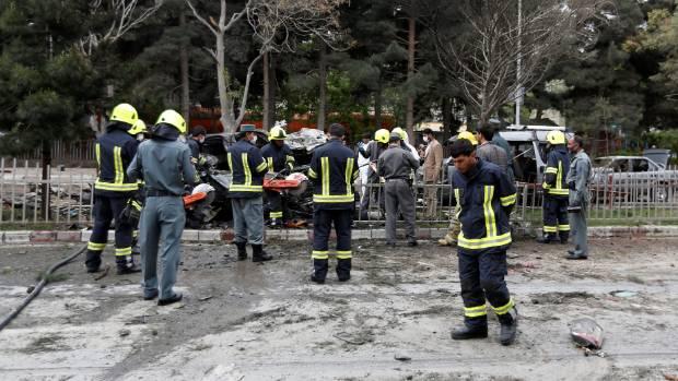 Kabul bomb attack targeting Nato convoy kills eight