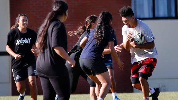 All Blacks and Hurricanes flanker Ardie Savea provided his expertise to the world-beating St Mary's College sevens team.
