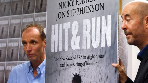 Nicky Hager & Jon Stephenson launching Hit & Run. which made explosive claims about the  SAS in Afghanistan