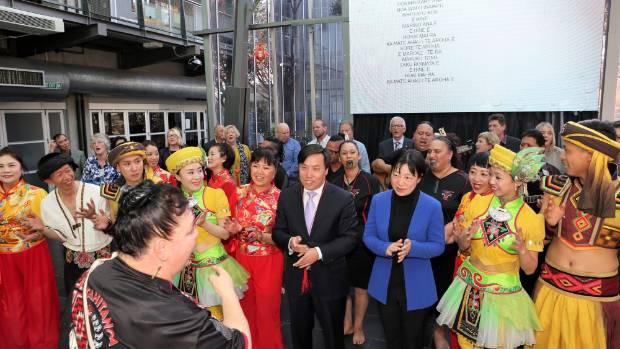 Guests and performers join Ko Tahitanga Otautahi for a rendition of Pokarekare Ana.