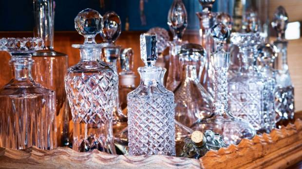 "The decanters were found during a Hospice shop fossick: ""If Hospice shopping were an Olympic sport, Mandie would be a ..."