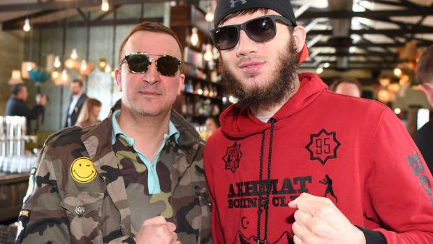 Russian light-heavyweight professional boxer Umar Salamov, right,  and his manager are hoping for bright things with ...