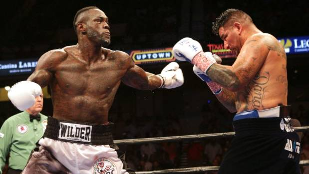 Deontay Wilder's powerful but loose fighting style comfortably saw off the challenge of American Chris Arreola.
