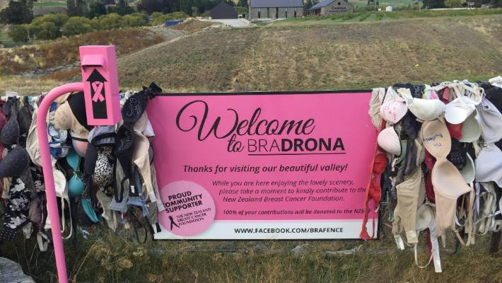 The Cardrona Bra Fence has raised more than $30,000 for the Breast Cancer Foundation.