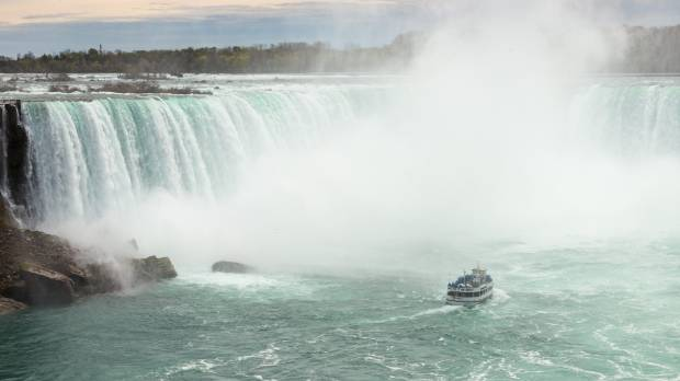 Get close to the majestic Horseshoe Falls on the Canadian Side of the Niagara Falls.