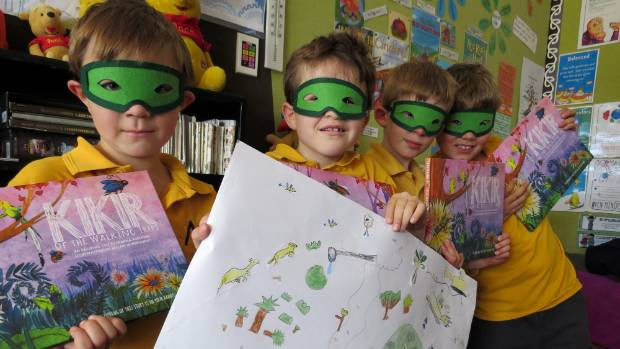 Mt Pleasant Primary School pupils shared their interpretations of her book Kikir of the Walking Trees.