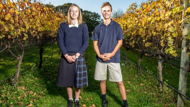High school students like Marlborough Girls' College head girl McKynlee Breen and Marlborough Boys' College deputy head ...