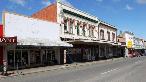 Op shops and vacant storefront on Waimate's main street. Within 30 years, South Canterbury's population is not expected ...