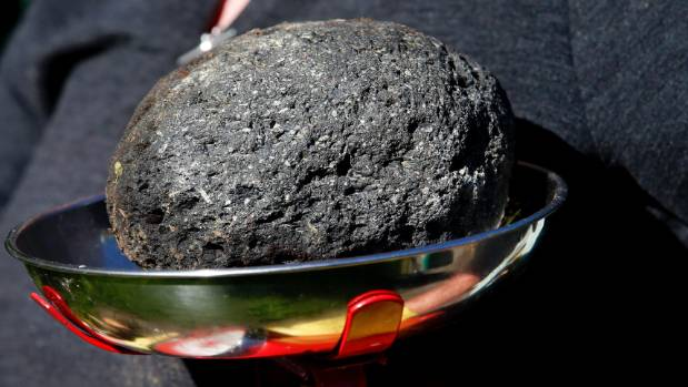 The object weighed about 2.4kg and had one Wainuiomata couple wondering if it came from outer space.
