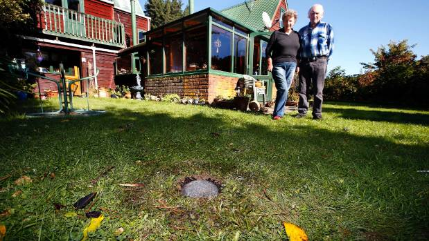 Joyce and Graeme Lockyer, of Wainuiomata near Wellington, came home from a two-week holiday to find what they suspect is ...